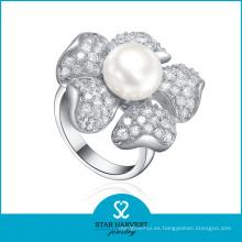 Elegante anillo de plata de agua dulce (SH-R361)
