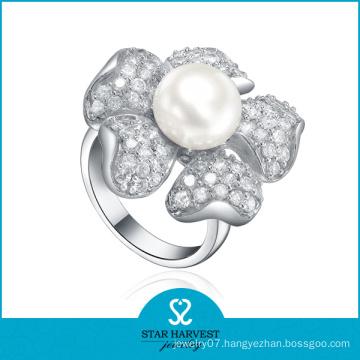 Elegant Fresh Water Silver Ring (SH-R361)