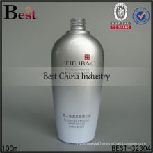 100ml gray color flat glass bottles with printing , empty packaging bottles, skin care cosmetic bottle