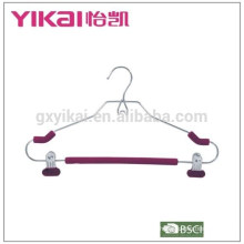 Light EVA foam coated padded metal shirt hangers with two clips