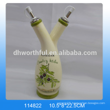 Fabulous design ceramic decorative vinegar bottles with two caps