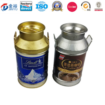 Wholesale Metal Handled Coffee Box with Tin Material