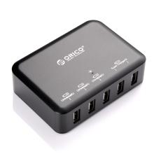 ORICO Estação de carregamento inteligente USB de 5 portas com IC de carregamento inteligente (DCAP-5S)