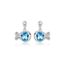 Popular Blue Crystal Fish Shape Earring Most Fashion Jewelry