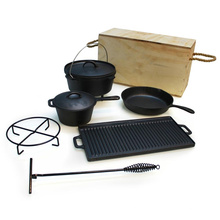 7pieces Cast Iron Cookware Sets, Camping Sets