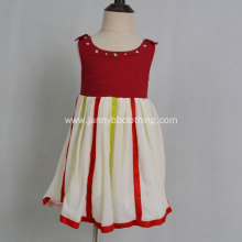 stripe chiffon  sleeveless baby girls dress