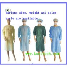 Robe chirurgicale non tissée Vinaigrette médicale pour l'hôpital ou l'industrie alimentaire Kxt-Sg01