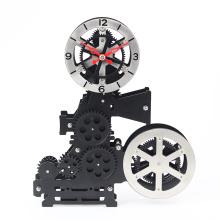 Relógio de engrenagem de projetor de filme preto para casa