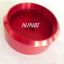 Anodização vermelha + peças de usinagem de liga de alumínio