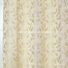 Moderno, pequeno, folha, flor, padrão, cortina
