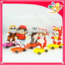 New Arriving Plush Musical Doll With Skateboards,Electric Musical Plush Doll Toy