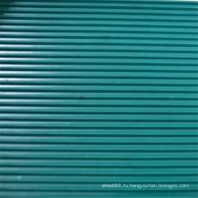 Темно-Зеленые Ребристые Анти-Выскальзования Резиновый Лист
