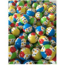Boules de jouet gonflables de couleur de PVC. Ballon de plage imprimé en PVC Logo