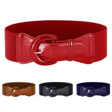 Grace Karin Women Ladies Girls Fashion Wide Polyurethane Leather Buckle Stretchy Elastic Waist Belt Waistband CL010469