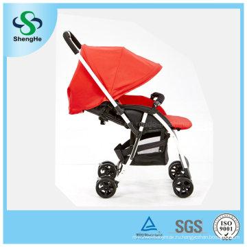 Новая обратимая прогулочная коляска из алюминиевого сплава с регулируемой подставкой для ног (SH-B11)
