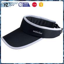 Factory Popular special design blank white visor cap from manufacturer