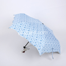 Rain Summer 3 Folding Umbrella Open Pretty Unique Fashion Fold Umbrella