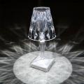 Candeeiro de mesa portátil recarregável de cristal 5V para interior