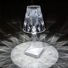 Indoor 5V tragbare wiederaufladbare Kristall-LED-Tischlampe