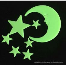 Glühen Sie Sterne und Monde / Entfernbare Wandaufkleber für Baby-Raumdekoration, romantische Geschenke, die für alle Festivals geeignet sind