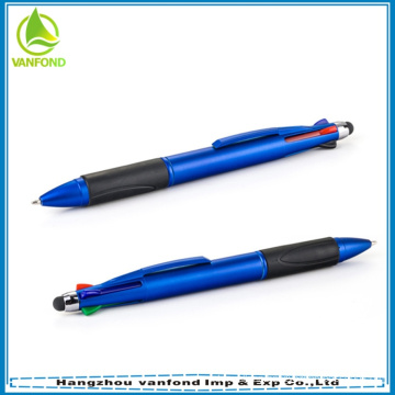 high quality retractable 4 colors touch screen stylus pen