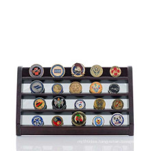 9x16 Custom Walnut Challenge Coin Display Stand Mirrored Coin Holder Is A Great Gift For Military Makes Memorabilia Coins top