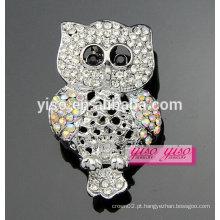 Com broche de cristal de coruja de coruja de alta qualidade a venda