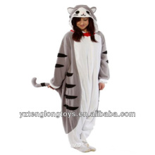 Venta al por mayor de fábrica al por mayor de felpa animal gato pijama