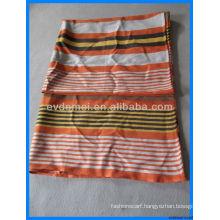 Winter colorful men rainbow stripe scarf
