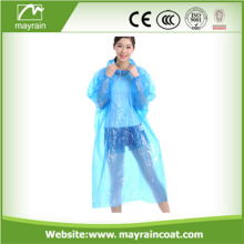 PE poncho de lluvia disponible para adultos