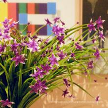 decoración de regalo tallos florales artificiales de colores para arreglo floral