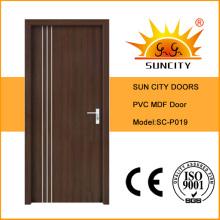 Puerta de PVC cubierta con contrachapado interior