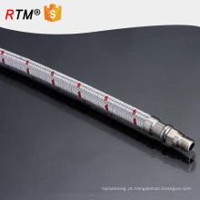 B17 trançado mangueira de gás de alta pressão de aço inoxidável encanamento mangueira flexível