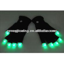 Luvas de flash LED para festas