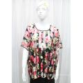 Lady Moda Impresso Poliéster Malha Primavera Hollow Shirt (YKY2204)