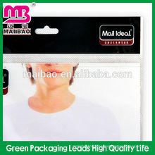 Bolsa de plástico recerrable autoadhesiva de alta calidad para el embalaje del calcetín de la camisa
