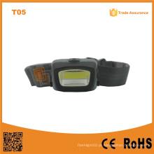 T11 COB LED Farol exterior de emergência ao ar livre camping COB LED 3xaaa poderoso farol