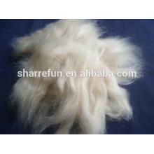 Schafwolle offene Oberteile naturweiß