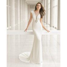 Satin Beautiful Beading Back Wedding Dress