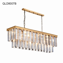 gold pendant light crystal foyer chandeliers iron lobby