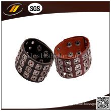 Punk Genuine Leather Bracelet with Rivet