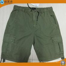 Pantalones cortos al por mayor del algodón de la manera de los cortocircuitos del cargo de Burmuda del algodón de los hombres