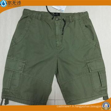 Hommes en gros coton Burmuda Cargo Shorts Pantalons courts en coton de mode
