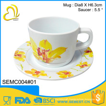 novelty custom printed melamine round tea cup sets