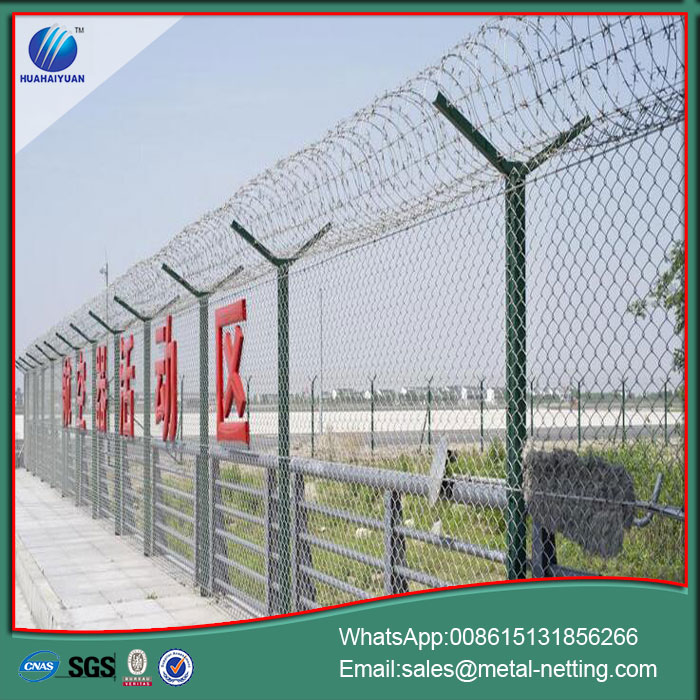 Dense Airport Fence