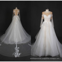 2017 Latest Lace Tulle Wedding Dress Bridal Wedding Gown