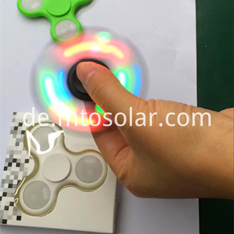 flashing hand led spinner