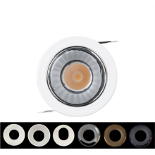 Adjustable recessed LED spotlight