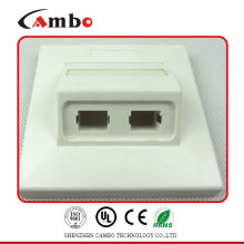 Made In China 4 port network faceplate Apply to ul194v-o high-impact fire-retardant ABS