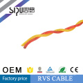 SIPU 300 / 500v pvc paire isolée torsadée câble souple RVS 300 / 500v pvc paire isolée torsadée câble flexible RVS